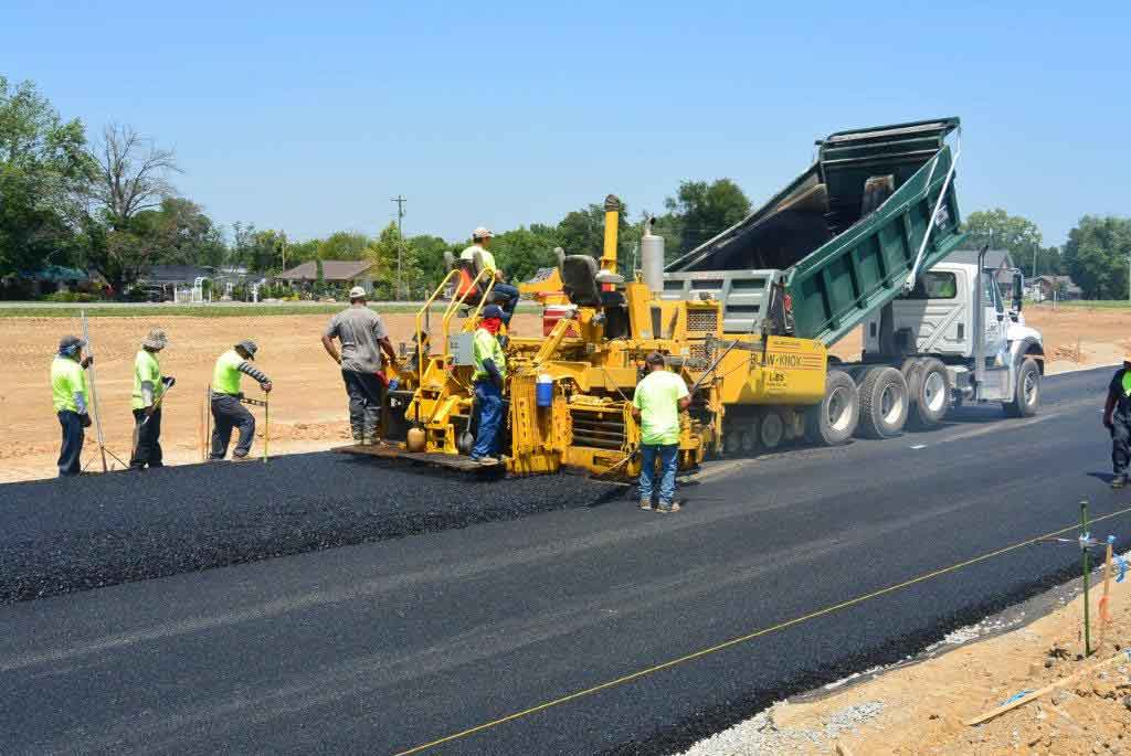 Libs paving Asphalt contractors are hard at work on a job! Now accepting applications!