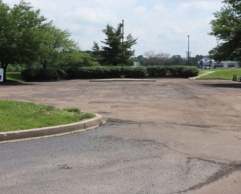 Parking lot before being paved, striped, and marked by Libs Paving