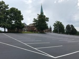 Parking Lot Sealcoating Services and Pavement markings