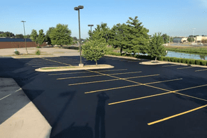 Striping & Pavement Markings for Commercial Companies offered by Libs Paving Co.
