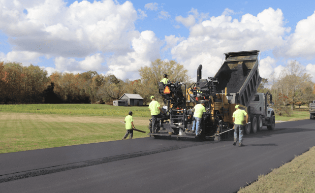 Local commercial asphalt paving company